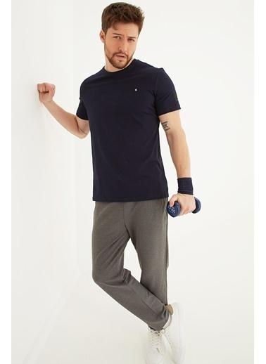 Modaset Nakış İşlemeli Spor T-Shirt Lacivert Lacivert